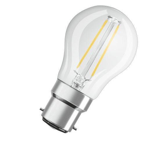 Image of Osram 2w LED Filament GLS Clear BC 2700k