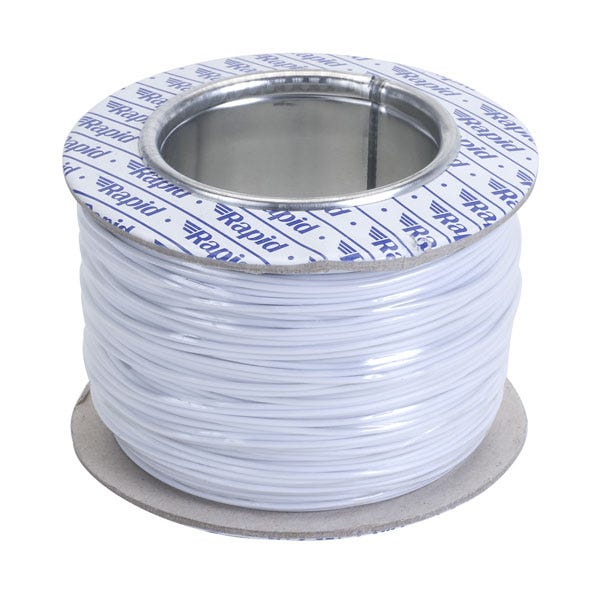 Image of 100m Roll of White 1/0.8mm Single Solid Ballast Wiring Cable