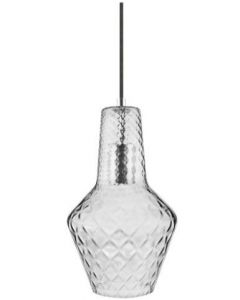 Osram LEDVANCE 1906 Carved Bottle E27 Pendant Fitting - Smoke Glass 1smoke