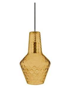 Osram LEDVANCE 1906 Carved Bottle E27 Pendant Fitting - Orange Glass 1orangebottle