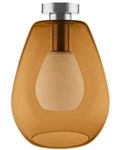 Osram LEDVANCE 1906 Adjustable Single Cone E27 Pendant Fitting - Orange Glas