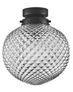 Osram LEDVANCE Carved Pineapple E27 Pendant Fitting - Smoke Glass 1906pineapple2