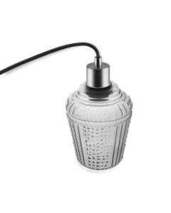 Osram LEDVANCE 1906 Carved Jar E27 Pendant Fitting - Smoke Glass 1906carvedsmoke