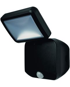 Osram Ledvance 4w LED Single Battery Powered 4000k Spotlight c/w Sensor - Black