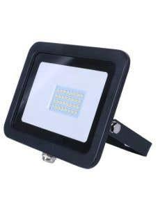 30w LED Floodlight, Black, 6000k