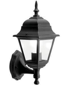 4 sided black wall lantern - S5897