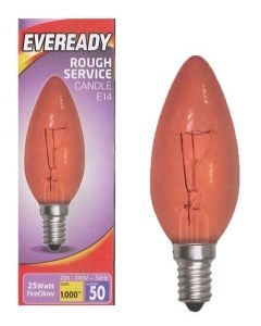 Eveready 25w SES Fireglow Candle Lamp - S11906