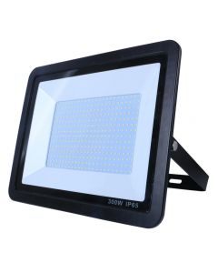 300w LED Floodlight Black Photocell