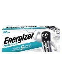 Energizer 9v Max Plus Alkaline Batteries - Pack of 20