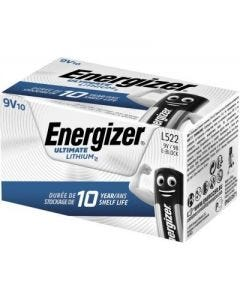 Energizer 9v Ultimate Lithium Batteries - Pack of 10