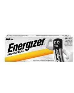 Energizer AA Industrial Alkaline Batteries - Pack of 10