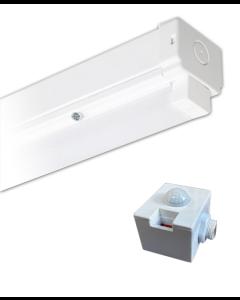 Bright Source 4ft Single 23w LED Batten Fitting 4000k - PIR Sensor