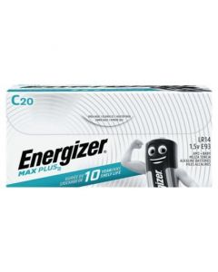 Energizer C Cell Max Plus Alkaline Batteries - Pack of 20