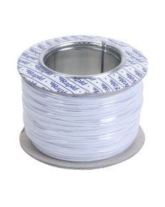 100m Roll of White 1/0.8mm Single Solid Ballast Wiring Cable