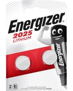 Energizer CR2025 Lithium Coin Battery - Pack of 2