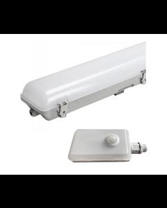 Bright Source 4ft Single 19w LED Batten IP65 - 4000k c/w PIR Sensor