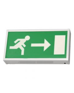 Bright Source LED Emergency Exit Box - Right Arrow