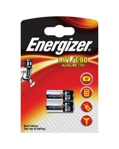 Energizer LR1/E90 1.5v Alkaline Batteries - Pack of 2