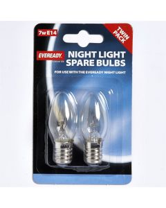 Eveready 7w Nightlight Clear SES/E14 - Twin Blister