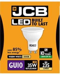 JCB 3w LED GU10 100° 3000K - S10961