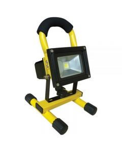 Powermaster 10w IP54 Rechargeable LED Floodlight - 6000k S11566