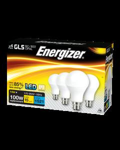 Energizer 13.2w LED GLS BC/B22 3000k - 4 Pack - S14423