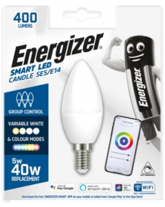 Energizer 5w Smart LED WiFi Candle SES Bulb - S17163