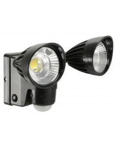 Battery Powered Twin 6w LED Floodlight - PIR front