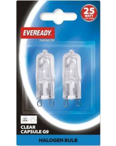 Eveready 25w G9 Halopin Capsule - (Twin Pack)