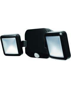 Osram Ledvance 2 x 5w LED Double Battery Powered 4000k Spotlight c/w Sensor - Black