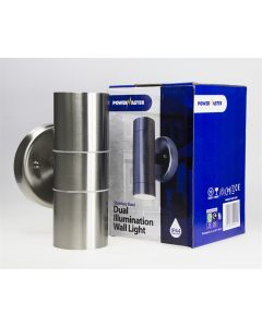 Twin Stainless Steel Up / Down light GU10 - IP44
