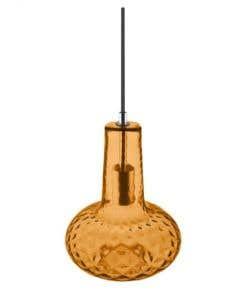 Osram LEDVANCE 1906 Carved Pear E27 Pendant Fitting - Orange Glass