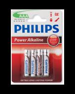 Philips AAA Alkaline Batteries - 4 Pack
