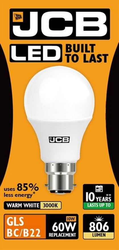 Image of 10w LED BC Opal GLS 3000K - JCB S10989