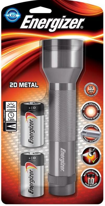 Energizer VALUE METAL 2D torch S8934